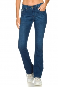 Lois Jeans |  L34 Flared jeans Melrose | blue  | Picture 4
