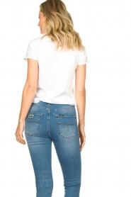 American Vintage |  Basic V-neck T-shirt Sonoma | white  | Picture 5