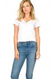 American Vintage |  Basic V-neck T-shirt Sonoma | white  | Picture 2