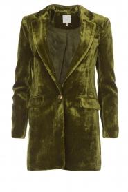 Silvian Heach | Fluwelen blazer Gorgos | groen  | Afbeelding 1