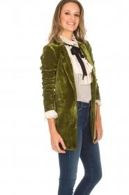 Silvian Heach | Fluwelen blazer Gorgos | groen  | Afbeelding 4
