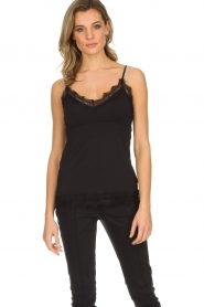 Set |  Sleeveless top with lace Chenna | black  | Picture 2