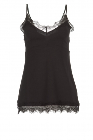 Set |  Sleeveless top with lace Chenna | black