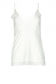 Set |  Sleeveless top with lace Chenna | white  | Picture 1