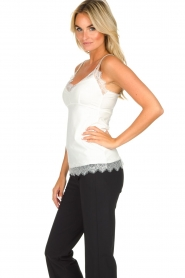 Set |  Sleeveless top with lace Chenna | white  | Picture 4