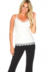 Set |  Sleeveless top with lace Chenna | white  | Picture 2