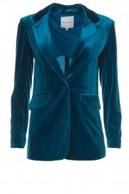 Silvian Heach |  Velvet blazer Shillarbour | blue  | Picture 1