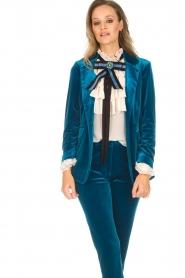 Silvian Heach | Fluwelen blazer Shillarbour | blauw  | Afbeelding 4