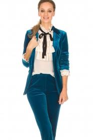 Silvian Heach |  Velvet blazer Shillarbour | blue  | Picture 2