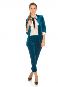 Silvian Heach |  Velvet blazer Shillarbour | blue  | Picture 3