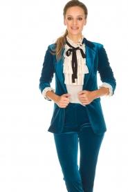 Silvian Heach | Fluwelen blazer Shillarbour | blauw  | Afbeelding 5