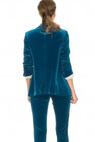 Silvian Heach | Fluwelen blazer Shillarbour | blauw  | Afbeelding 7