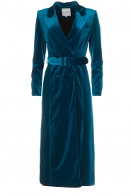 Silvian Heach |  Velvet trench coat Taree | blue  | Picture 1
