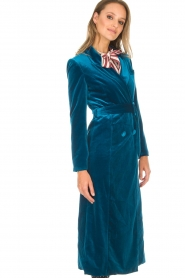 Silvian Heach |  Velvet trench coat Taree | blue  | Picture 5