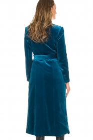Silvian Heach |  Velvet trench coat Taree | blue  | Picture 6