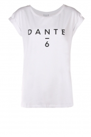 Dante 6 |  Cotton T-shirt with logo print Ravia | white  | Picture 1