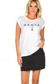 Dante 6 |  Cotton T-shirt with logo print Ravia | white  | Picture 7