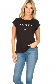 Dante 6 |  T-shirt with logo print Ravia | black  | Picture 2