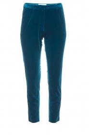 Silvian Heach | Fluwelen broek Serpentine | blauw  | Afbeelding 1