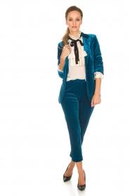Silvian Heach | Fluwelen broek Serpentine | blauw  | Afbeelding 2