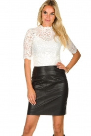 Dante 6 |  faux leather pencilskirt Toortsie | black  | Picture 2
