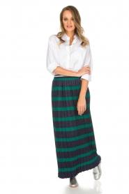 Silvian Heach |  Maxi skirt Adicora | blue  | Picture 2