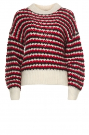 Silvian Heach |  Sweater Domeno | red  | Picture 1