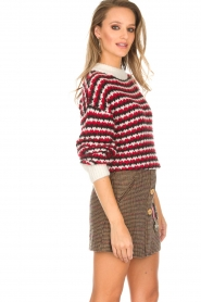 Silvian Heach |  Sweater Domeno | red  | Picture 2