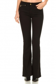 Lois Jeans |  L32 Flared jeans Lea Soft Teal | black   | Picture 4