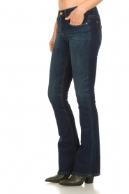 Lois Jeans |  L34 Flared jeans Melrose - Marconi dark wash | blue  | Picture 4