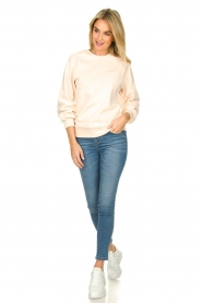 Dante 6 |  Sweater with balloon sleeves Love Me | soft pink  | Picture 3