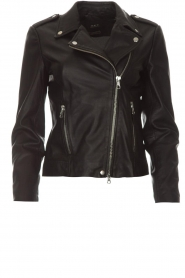 Set |  Leather biker jacket Tyler | black  | Picture 1