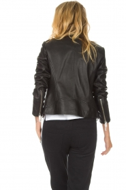 Set |  Leather biker jacket Tyler | black  | Picture 5