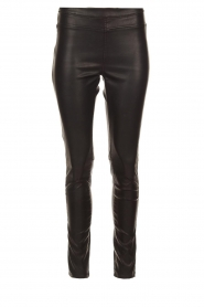 Knit-ted | Faux leather leggings Amber | black  | Picture 1