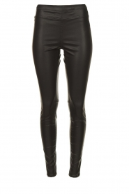 Knit-ted | Faux leather leggings Amber | black