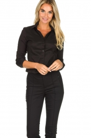 Set |  Classic stretch blouse Maxime | black  | Picture 2