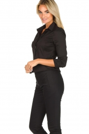 Set |  Classic stretch blouse Maxime | black  | Picture 4