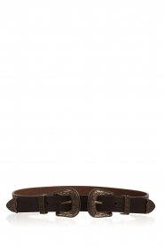 So Jamie |  Leather belt Cassy | brown  | Picture 2