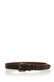 So Jamie |  Leather belt Lindsay | brown  | Picture 1