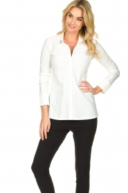 D-ETOILES CASIOPE |  Travelwear  blouse Petite | white  | Picture 2