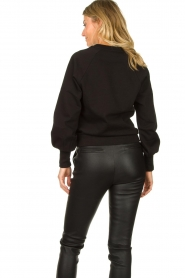 Dante 6 |  Sweater with balloon sleeves Love Me | black  | Picture 7