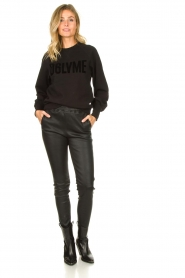 Dante 6 |  Sweater with balloon sleeves Love Me | black  | Picture 3