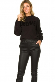 Dante 6 |  Sweater with balloon sleeves Love Me | black  | Picture 2