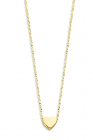 Just Franky |  14k golden necklace Hart | yellow gold  | Picture 1