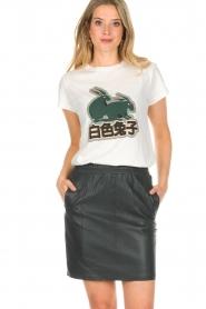 Dante 6 |  Leather skirt Eshvi | green  | Picture 2