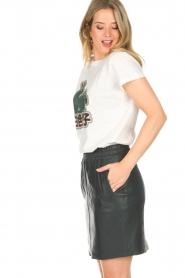 Dante 6 |  Leather skirt Eshvi | green  | Picture 4