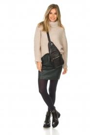 Dante 6 |  Leather skirt Eshvi | green  | Picture 3