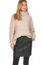 Dante 6 |  Leather skirt Eshvi | green  | Picture 5