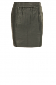 Dante 6 |  Leather skirt Eshvi | green  | Picture 1