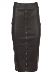 Dante 6 |  Leather skirt Lonestar | black  | Picture 1